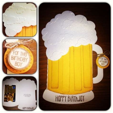 Brewery Gift Cards - beer mug gift card holder using jaded blossom sts and svg cutting files cut made