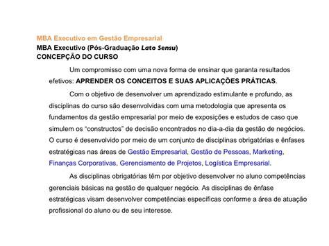 Local Mba Programs by Mba Executivo Gestao Empresarial