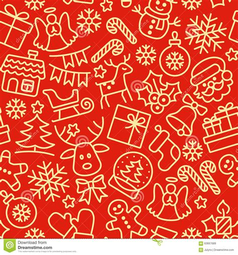 christmas pattern lines christmas seamless pattern holiday background stock