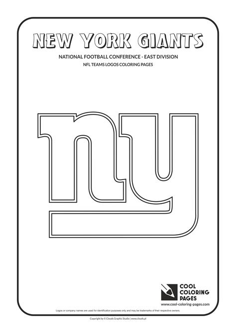 Coloring Pages Nfl New York Giants Logo Nfl Teams Logos Ny Giants Coloring Pages