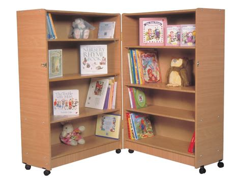 Hinged Shelf by E4e 4 Shelf Hinged Bookcase Beech Finish