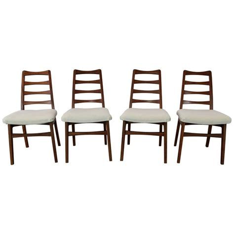 set of four dining room chairs rosewood and leather at rosewood ladderback dining chairs vintage mid century