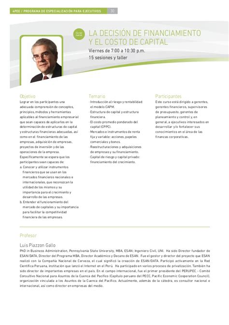 Mba Esan Costo by 4 Brochure