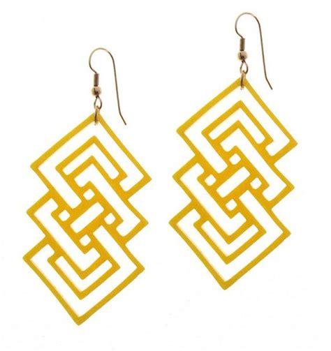 Geometric Acrylic Earring baronyka yellow geometric earrings acrylic laser cut