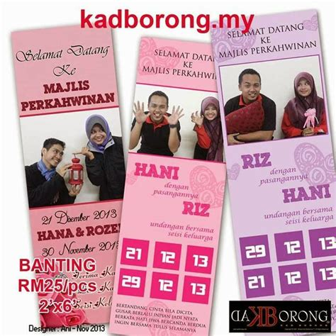 design banner tunang by mommy haziq idea banner bunting
