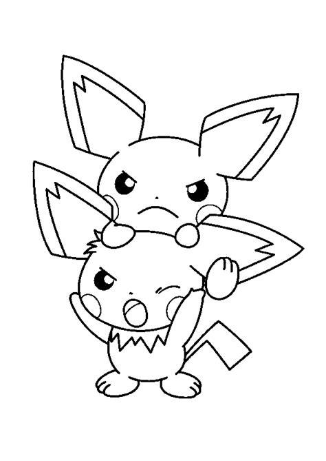 pikachu coloring pages pdf coloriage pok 233 mon pichu hugolescargot com