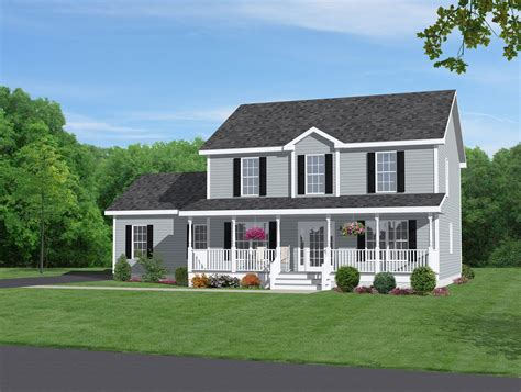 how to build a 2 story house two story home with beautiful front porch dream home
