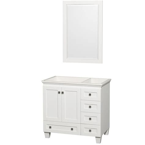 home depot 36 inch bathroom vanity wyndham collection acclaim 36 inch w vanity in white