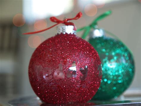 diy personalized glitter ornaments christmasornaments