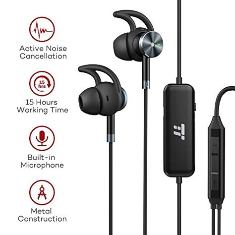 Earphone Log On Active taotronics active noise cancelling headphones wired earphones import it all