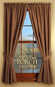 The Country Porch Curtains Tieback Curtain Panels