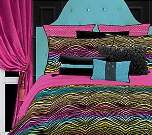 rainbow zebra comforter set veratex rainbow zebra queen comforter set qvc com
