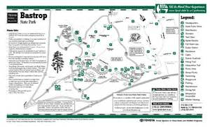 Bastrop State Park Map by Bastrop Texas State Park Map Bastrop Texas Mappery