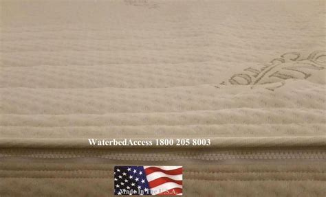 Land And Sky Waterbed Softside Waterbed Bladder American National Sorrento 14 Inch Softside Waterbed Mattress Top