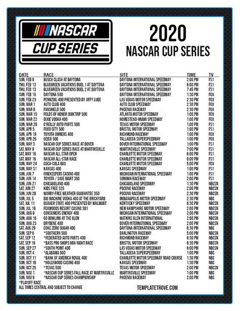 printable  nascar schedule