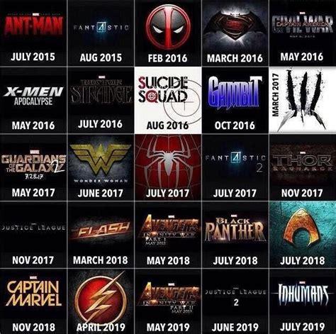 marvel release dates marvel release date calendar calendar template 2016