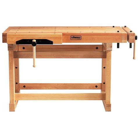 homedepot work bench sjobergs elite 4 1 5 ft beech workbench in wood sjo 33246