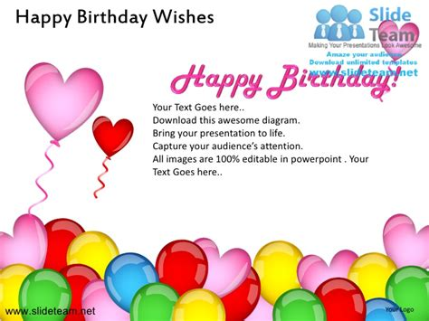 Happy Birthday Wishes Powerpoint Ppt Templates Powerpoint Birthday
