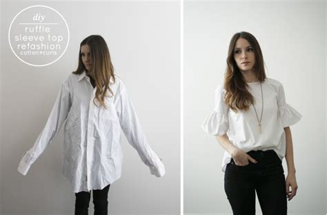 Ruffle Bell Sleeves Blouse Muslim Baju Atasan Wanita Felix Blouse 10 Fashionable Ways To Repurpose A Men S Shirt