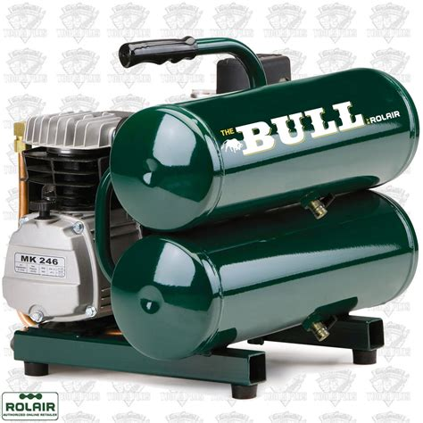 rolair fc2002 2 hp single stage the quot bull quot carry air compressor