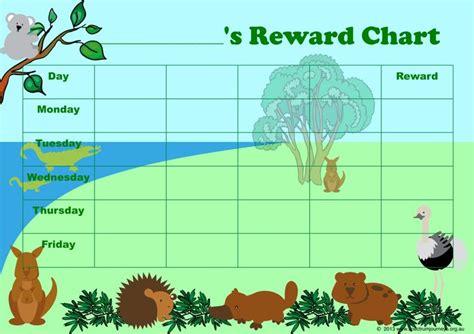 printable animal reward charts australian animals reward chart great for promoting