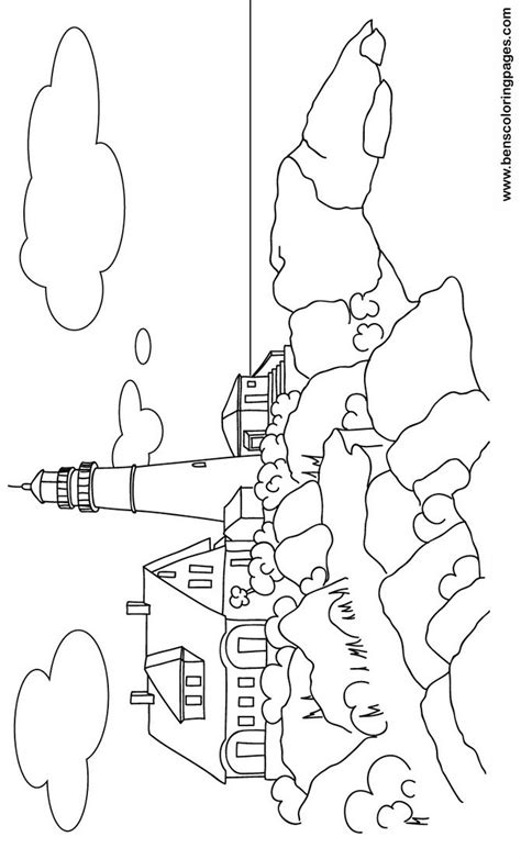 free coloring pages of maine lighthouses