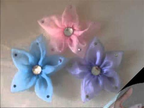 tutorial fiori con organza fiori di organza youtube