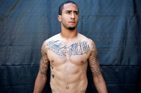 trapezius tattoo nfl colin kaepernick new tribal bad