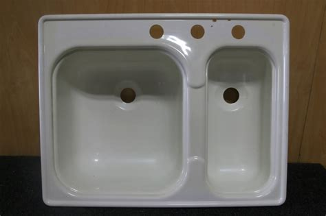 rv accessories new old stock double plastic kitchen sink