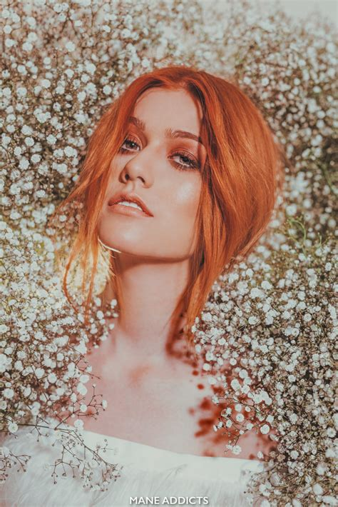 Best Red Color by Mane Addicts One To Watch Katherine Mcnamara Mane Addicts