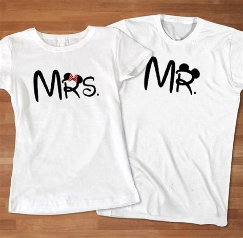 T Shirt Baju Kaos Cooper mrs and mr disney couples tshirt custom couples by