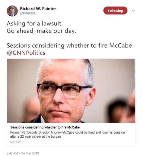 jeff sessions pension will jeff sessions fire andrew mccabe and steal his