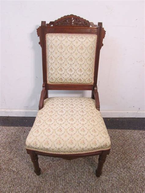 antique eastlake upholstered side chair great ebay