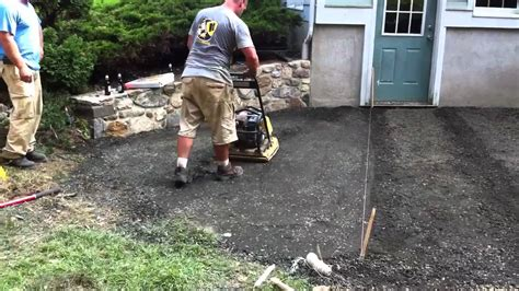 Patio Base Depth by Patio Base Compaction With Plate Compactor