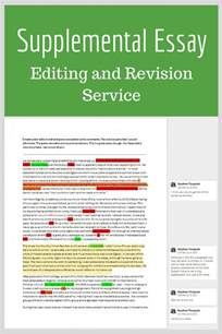 Essay Editor by Supplemental Essay Editing And Revision