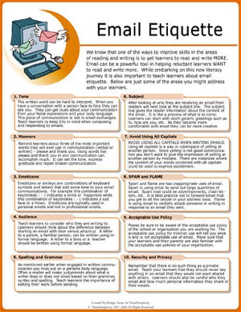 email etiquette pdf data
