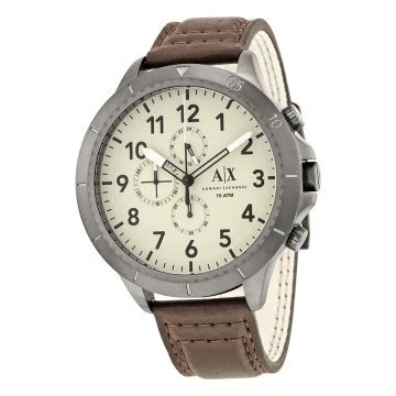Ax Armany Leather Brown Silver Blue a x armani exchange watches jomashop