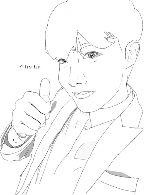 Jhope Drawing Easy by Bts Jhope Jhope Image By Cshc
