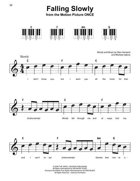 tutorial piano falling slowly supernoty cz