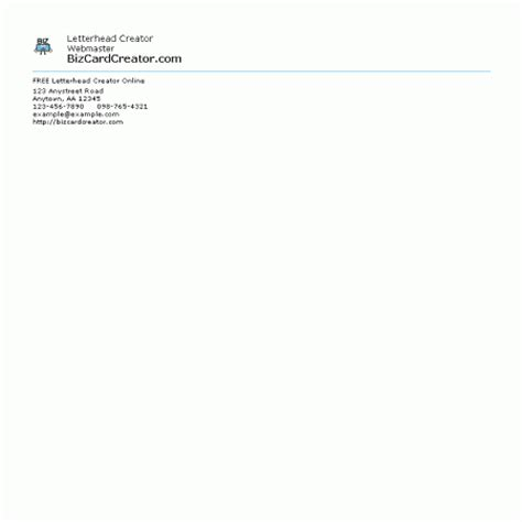 Business Letterhead Creator Software Letterhead Style 1