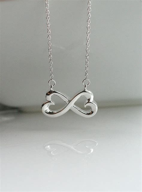 infinity necklace infinity silver infinity necklace