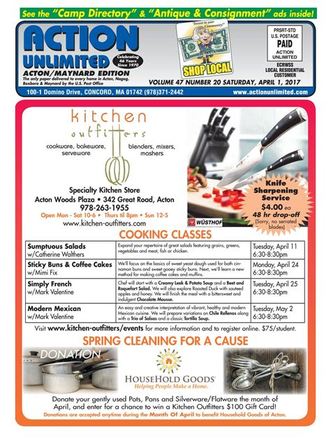 kitchen outfitters acton ma 040117 acton by unlimited issuu