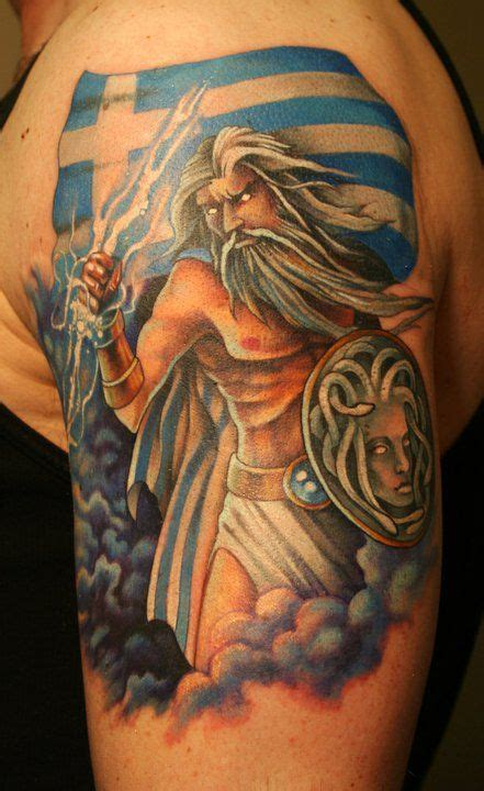 zeus tattoo tribal zeus with thunderbolt tattoo design jpg 441 215 720 zeus