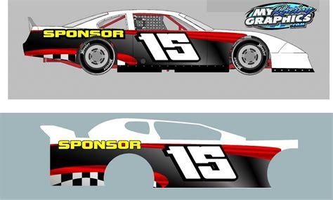10 Best Images Of Car Wrap Design Templates Dirt Modified Graphics Template Vehicle Wrap Race Car Graphics Design Templates