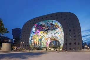 Modern Contemporary Office Furniture by Mvrdv Designed Markthal Housing Market Hall Opens In