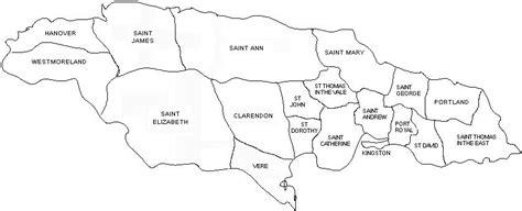 printable map of jamaica with parishes parishes of jamaica