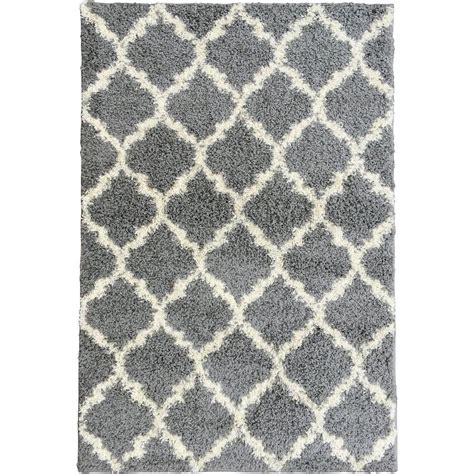 Gray Area Rugs Contemporary Ottomanson Contemporary Moroccan Trellis Gray 5 Ft X 7 Ft Area Rug Ptr1553 5x7 The Home Depot