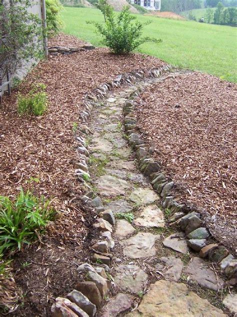 fieldstone landscape edging fieldstone pathway