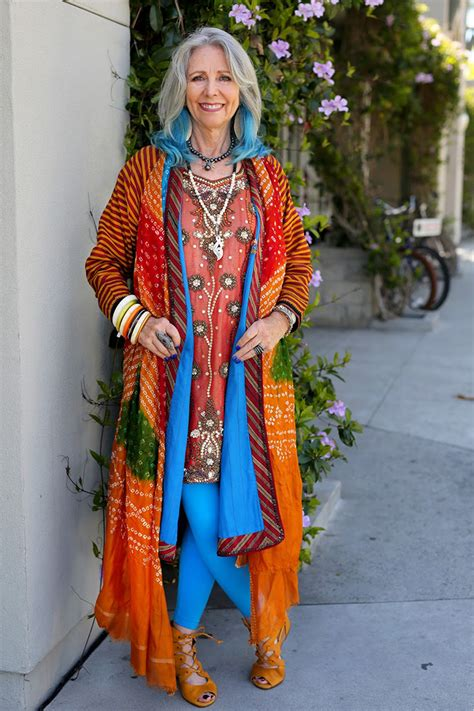 60 year old female in bohemian style 25 stylish seniors that keep up with fashion
