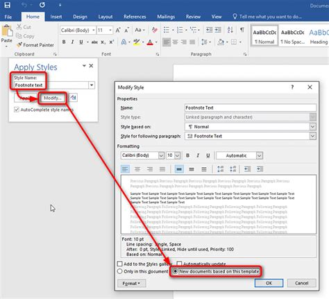 modify footnote text style solved office word 2013 how to change the font of